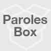 Paroles de Can't hold on to you Johnny Cooper